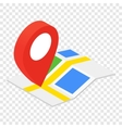 Location isometric 3d icon vector image vector image