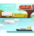 Logistics Banners Set vector image