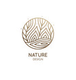 logo nature elements in linear style vector image