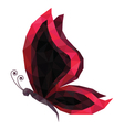 Low poly butterfly vector image