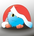 monster Cute cartoon blue christmas hat vector image