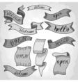 old vintage ribbon vector image vector image