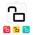 Open padlock icon vector image vector image