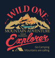 outdoor expedition typography adventure t-shirt vector image