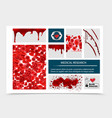 realistic blood donation composition vector image vector image