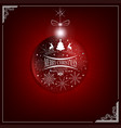 red christmas composition with a silhouette of a vector image