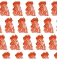 red rooster pattern vector image