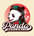 republic panda logo icon vector image