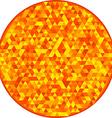 Round sun orange pattern vector image