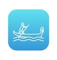 Sailor rowing boat line icon vector image vector image