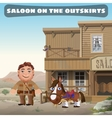 saloon on outskirts town vector image