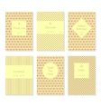Set of card templates or brochures vector image vector image