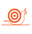 snail cartoon orange vector image