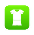 sport shirt and shorts icon digital green vector image