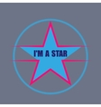 star typography t-shirt graphics vector image