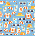 sun protect seamless pattern with lotion sun vector image