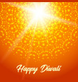sunny rangoli happy diwali greeting card vector image vector image