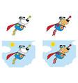 super hero dog cartoon mascot character vector image vector image