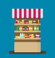 supermarket flat vector image vector image