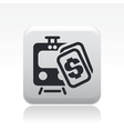 train price icon vector image vector image