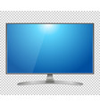 tv flat screen lcd plasma realistic vector image