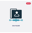 two color sha folder icon from search engine vector image vector image
