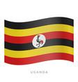 uganda waving flag icon vector image vector image