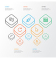 user outline icons set collection of reload vector image
