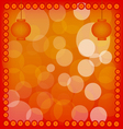 Chinese New Year Lantern on Red Abstract Backgroun vector image