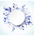 Watercolor painted abstract background vector image