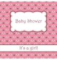 Background with hearts baby shower vector image