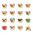 set of dog emoticon vector image