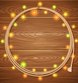 Cowboy lasso decorated christmas light garlands on vector image