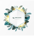 abstract template summer leaves with golden vector image