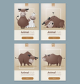 Animal banner with Cows for web design 1 vector image vector image
