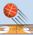 basketball play game with ball and field vector image vector image
