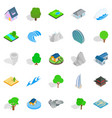 block icons set cartoon style vector image vector image