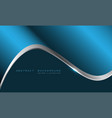 blue metallic silver line curve with blank space