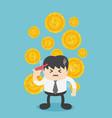 businessman worried about finances vector image vector image
