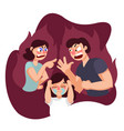cartoon color characters people and family quarrel vector image vector image