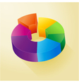 Circle colorful 3D diagram vector image vector image