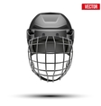 Classic black Goalkeeper Hockey Helmet isolated on vector image vector image