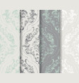 classic flourish ornamented background set vector image vector image