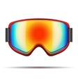 Classic snowboarding goggles with big rainbow vector image vector image
