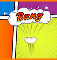 comic collection colored sound chat text effects vector image vector image