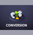 conversion isometric icon isolated on color vector image