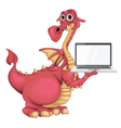Dragon with notebook vector image