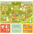 easter invitation card and elements vector image vector image