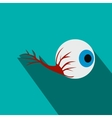 Eyeball flat icon with shadow vector image