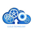 flat cloud technology and communication vector image